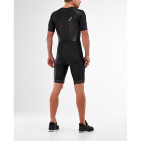 2XU Perform Trisuit met Mouwen en Doorlopende Rits Heren, black/shadow